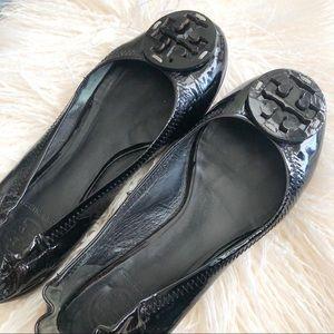Tory Burch Reva Patent Leather Ballet Flat Shoe 6
